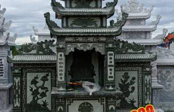 Lăng mộ bằng đá xanh được chế tác tại cơ sở đá mỹ nghệ thanh hóa Đông liên.