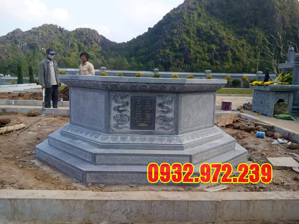 Hình Ảnh mẫu mộ đá bát giác đẹp giá rẻ tại thanh hóa.