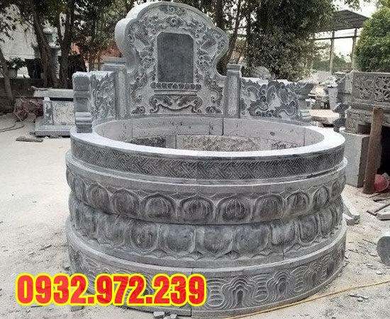 Hình ảnh mẫu mộ đá tròn đẹp tại thanh hóa.